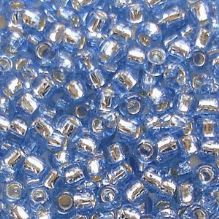 Toho 8/0 Seed Beads Silver Lined Light Sapphire 33 - 10 grams